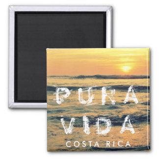 Costa Rica Pura Vida Sunset Souvenir Magnet
