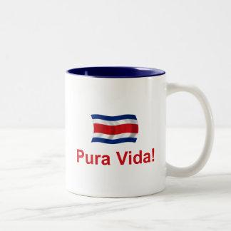 Costa Rica Pura Vida! Two-Tone Coffee Mug