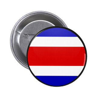 Costa Rica quality Flag Circle Pinback Buttons