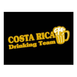 Costa Rica que bebe al equipo Postal