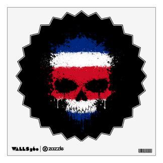 Costa Rica que gotea el cráneo de la salpicadura