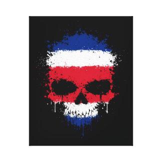 Costa Rica que gotea el cráneo de la salpicadura Lona Estirada Galerías