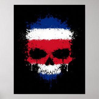 Costa Rica que gotea el cráneo de la salpicadura Impresiones