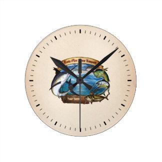Costa Rica que pesca al campeón (su nombre) Reloj Redondo Mediano