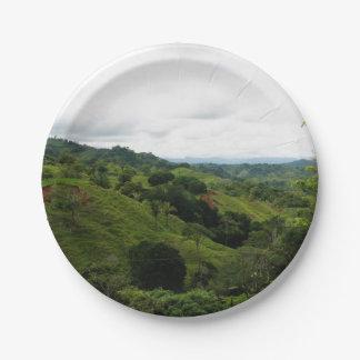 Costa Rica Rain Forest 7 Inch Paper Plate