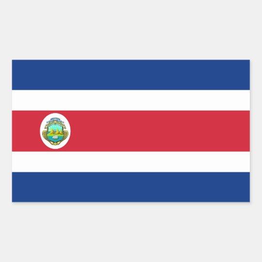 COSTA RICA RECTANGULAR STICKER