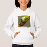 Costa Rica Red-Eyed Frog I See You Customizable Hoodie