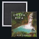 "Costa Rica Rio Celeste Souvenir Magnet<br><div class=""desc"">Costa Rica travel souvenir magnet featuring the magnificent Rio Celeste waterfall.</div>"