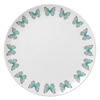 Costa Rica Round Butterfly Melamine Plate