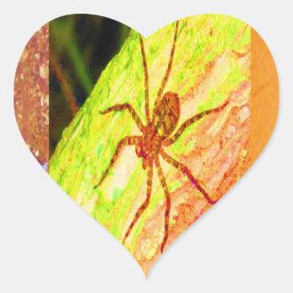 Costa Rica salvaje - arañas, cucarachas e insectos Pegatina En Forma De Corazón