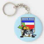 Costa Rica Scuba Diving Panda Keychain