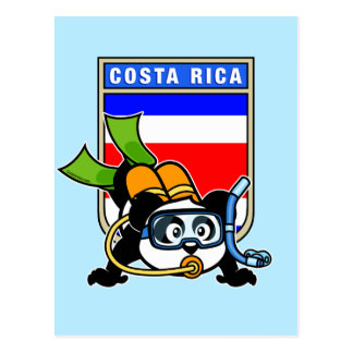 Costa Rica Scuba Diving Panda Postcard