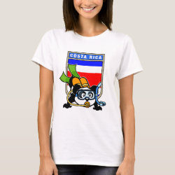 Women's Basic T-Shirt with Costa Rica Scuba Diving Panda design