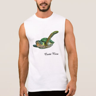 Costa Rica Sea Turtle Sleeveless T-shirts