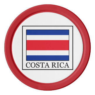 Costa Rica Set Of Poker Chips