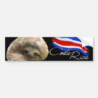 Costa Rica Sloth Bumper Sticker