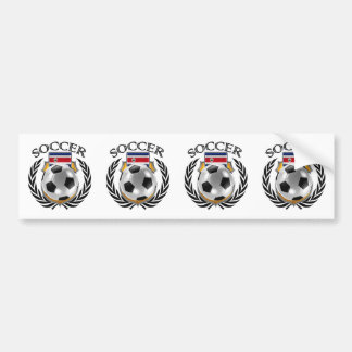 Costa Rica Soccer 2016 Fan Gear Bumper Sticker