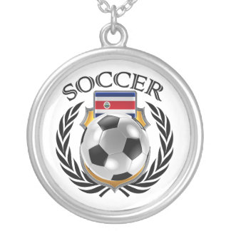Costa Rica Soccer 2016 Fan Gear Silver Plated Necklace