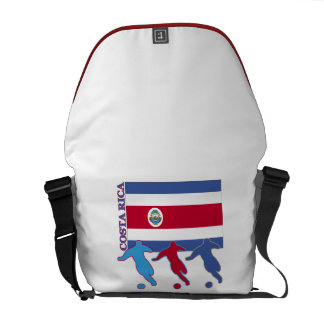 Costa Rica Soccer Players Courier Bags