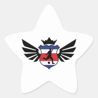 Costa Rica soccer Star Sticker