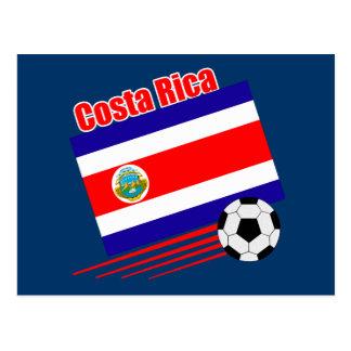 Costa Rica Soccer Team Postcard