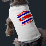 """Costa Rica Soccer Team Tee<br><div class=""""desc"""">Show your pride in the Costa Rican Soccer team with the Costa Rican flag,  the country name,  Costa Rica and a soccer ball. Great gift for soccer fans of all ages</div>"""