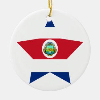 Costa+Rica Star Christmas Tree Ornament