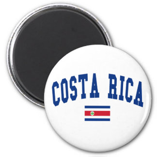 Costa Rica Style 2 Inch Round Magnet
