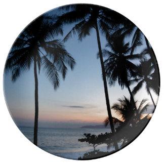 Costa Rica Sunrise Porcelain Plate
