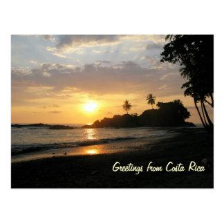 Costa Rica Sunset Postcard