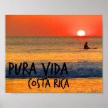 Costa Rica Sunset Surfer Poster