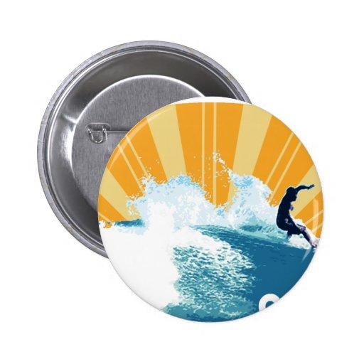 Costa Rica Surf Pinback Button