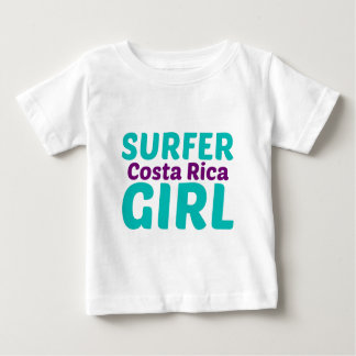 Costa Rica Surfer Girl Baby T-Shirt