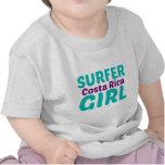 Costa Rica Surfer Girl Shirts