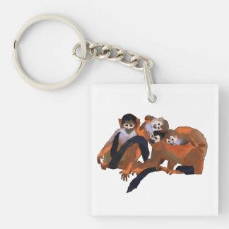 Costa Rica Titi Monkey Keychain