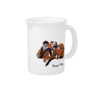 Costa Rica Titi Monkey Beverage Pitchers