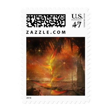 Costa Rica - Travel and Holiday Destination Postage Stamp