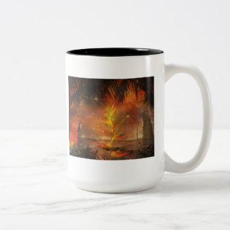 Costa Rica - Travel and Holiday Destination Two-Tone Coffee Mug