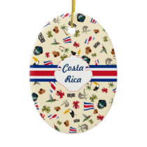 Costa Rica travel souvernir Ceramic Ornament
