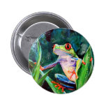 Costa Rica Tree Frog 2 Inch Round Button