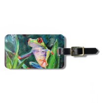 Costa Rica Tree Frog Bag Tag
