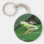 Costa Rica Tree Frog Basic Round Button Keychain