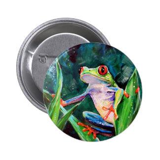Costa Rica Tree Frog 2 Inch Round Button