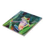 "Costa Rica Tree Frog Ceramic Tile<br><div class=""desc"">Costa Rica Tree Frog</div>"