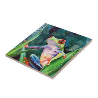 Costa Rica Tree Frog Ceramic Tile