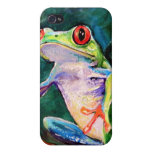Costa Rica Tree Frog iPhone 4 Cases