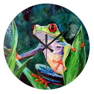 Costa Rica Tree Frog Large Clock