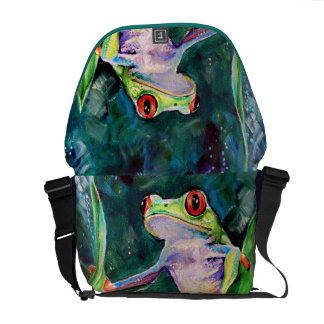 Costa Rica Tree Frog Messenger Bags