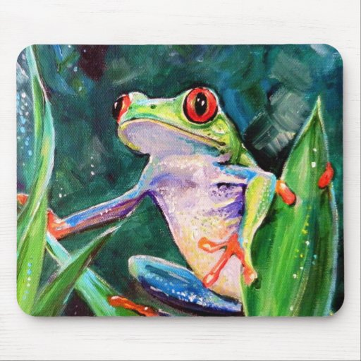 Costa Rica Tree Frog Mouse Pad