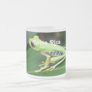 Costa Rica Tree Frog 10 Oz Frosted Glass Coffee Mug